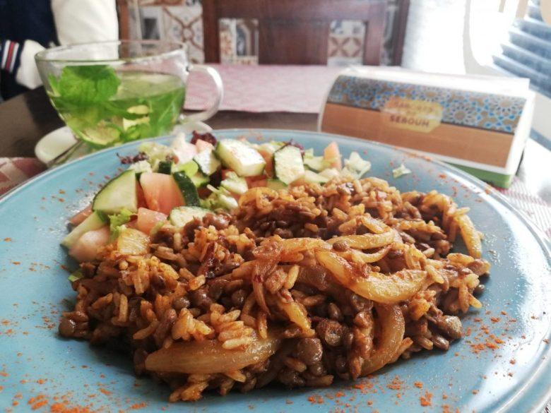 vegan Middle Eastern food mujadara