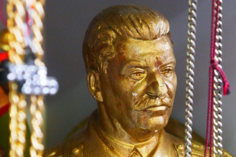 Stalin bust at Soviet junk market
