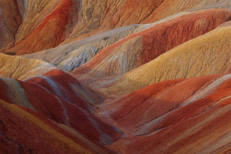 Qicai scenic area in Zhangye Danxia Geopark China