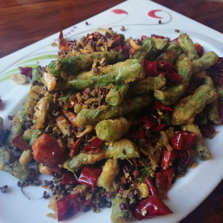 Stir-fried green beans at Tuo Mei Fan Zhuang