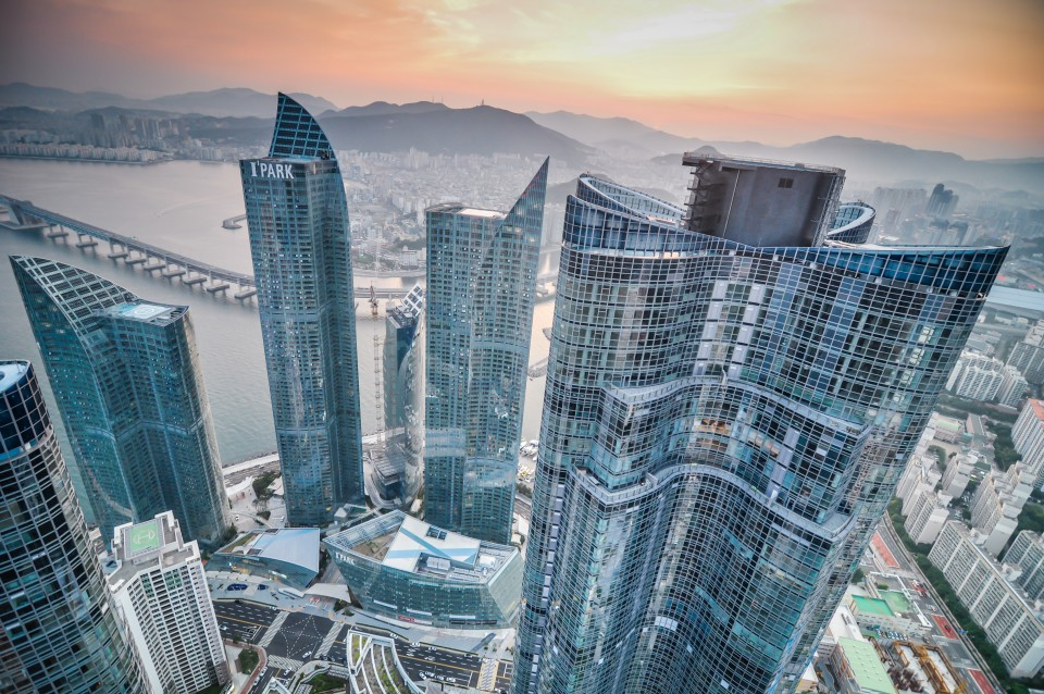 Rooftopping Photography at Busan's Marine City in Korea