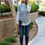Embellished tee and polka dots