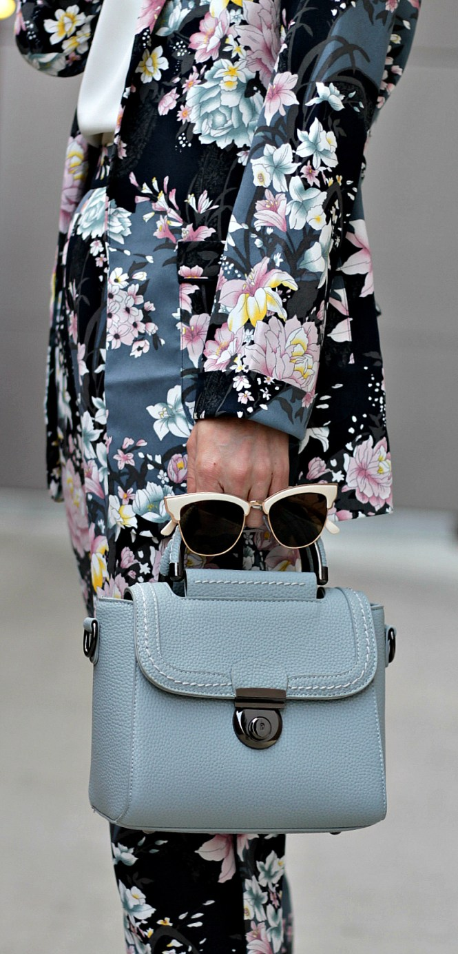 floral, suit, pantsuit, light blue, bag, vipme, asos, forever 21, spring style, spring outfit, ootd, inspo, outfit inspo, fashion blogger, workwear, work outfit, the nomis niche, lindsey simon, las vegas