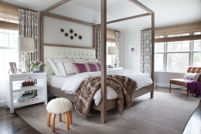 Neutral master bedroom by Erin Gates.