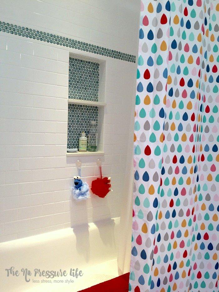 Kids Bathroom Shower Tile Detail