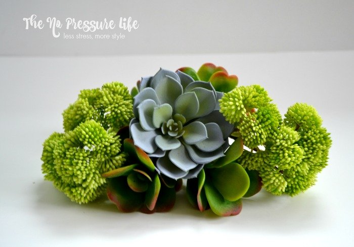Faux Succulents for a DIY faux succulent wreath