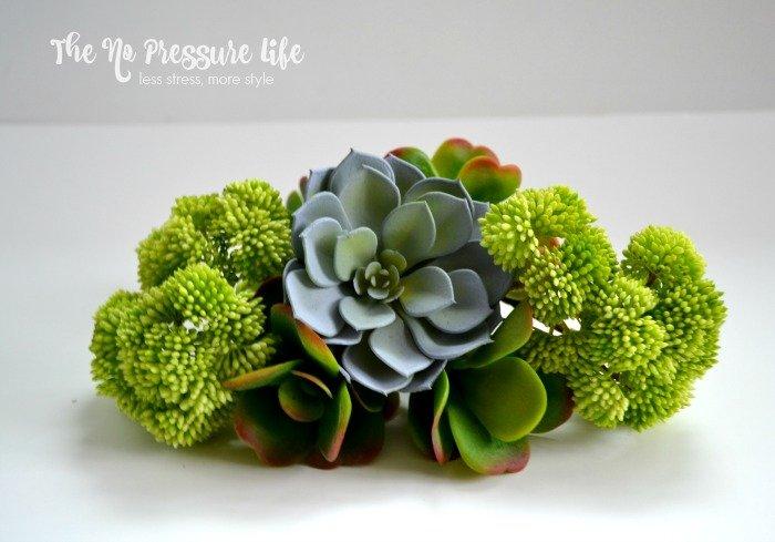 Faux Succulents for a DIY faux succulent wreath
