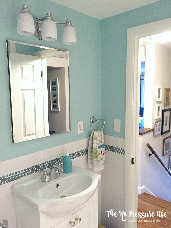 Kids Bathroom decor - sink and lighting