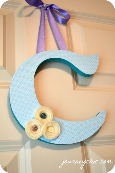 girls nursery monogram craft