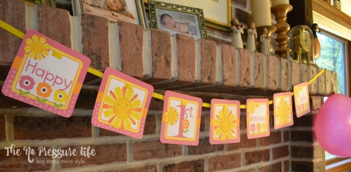 You Are My Sunshine birthday party banner