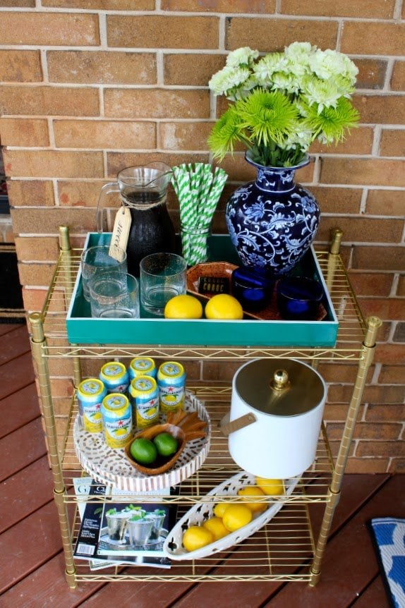 Please pin from the original source - diy outdoor cart via Your Southern Peach