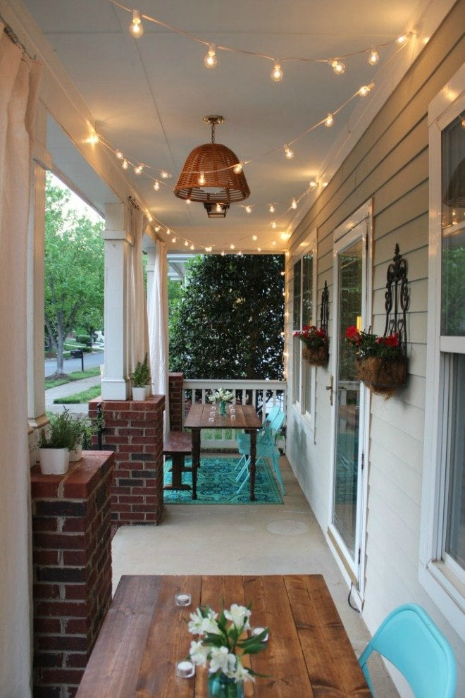 Please pin from the original source - fun porch lighting - Simple Stylings