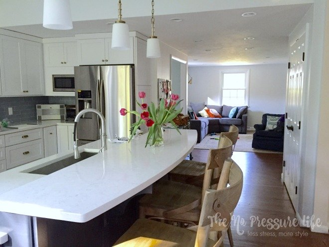 kitchen open to dining room - The No Pressure Life