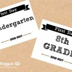 First Day of School Signs – Free Printables!