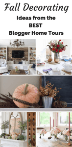 Get simple fall decorating ideas from the top blogger home tours that you can easily achieve in your own home! From The No Pressure Life.