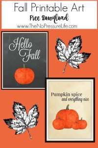 Free Fall Printables - The No Pressure Life