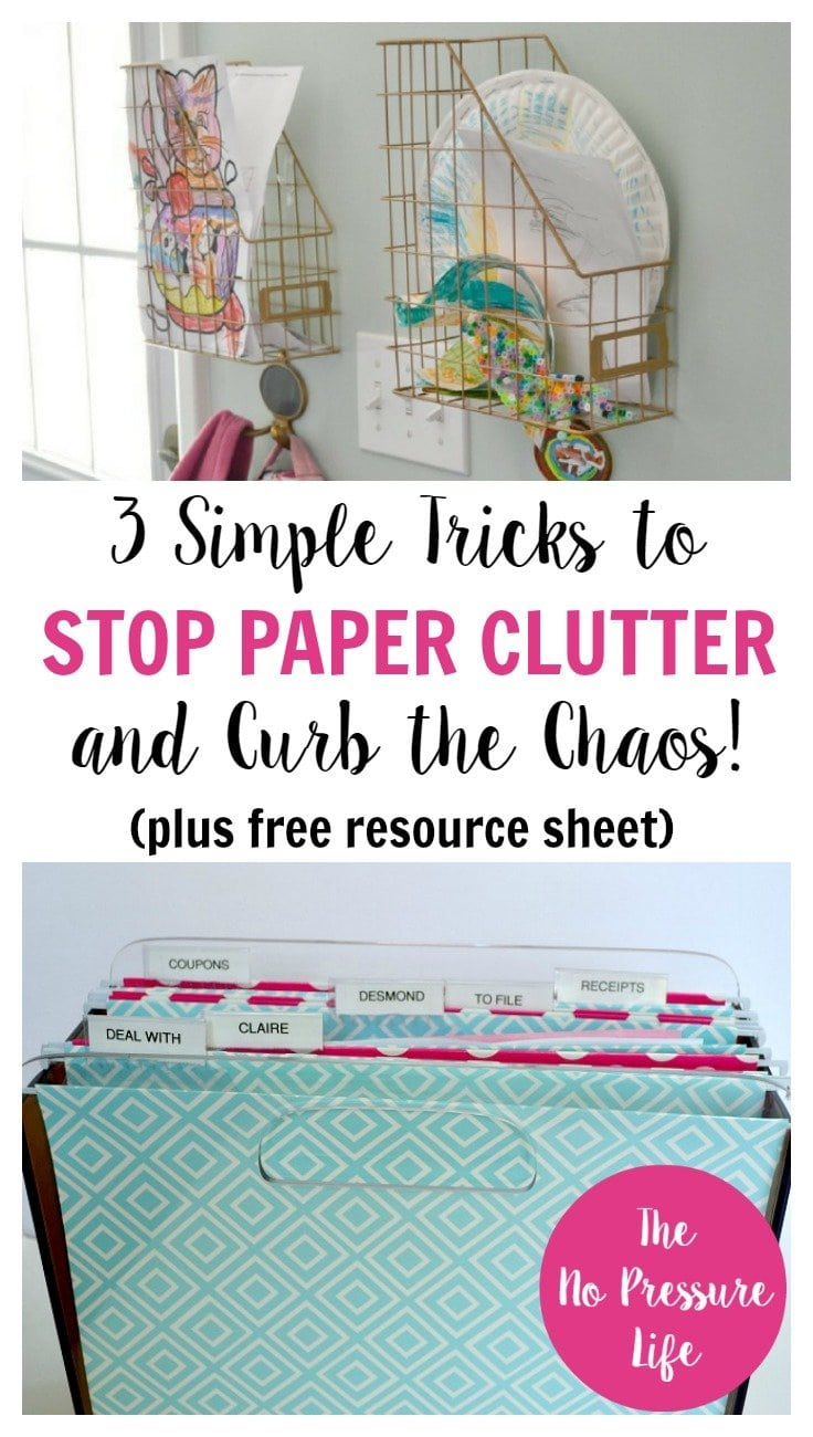 How to stop paper clutter and junk mail with 3 simple tips