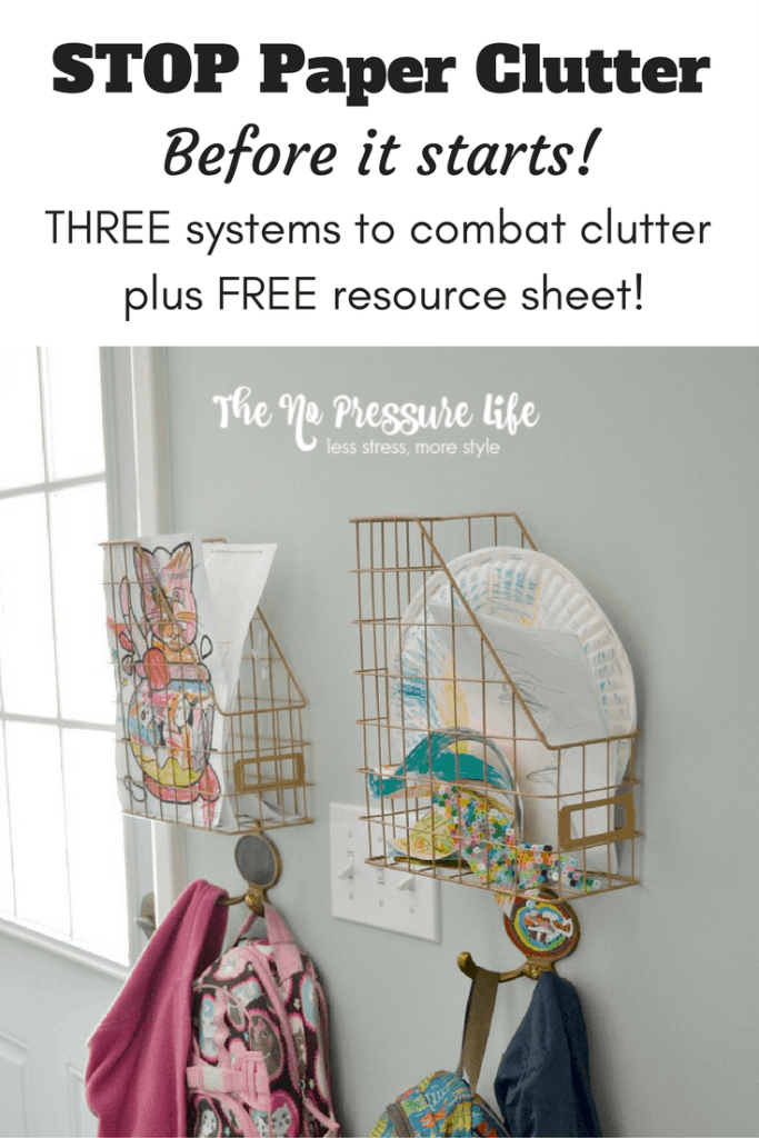 These are easy and inexpensive tips to stop paper clutter before it starts! Plus, get a free resource sheet with ways to eliminate junk mail. From The No Pressure Life.