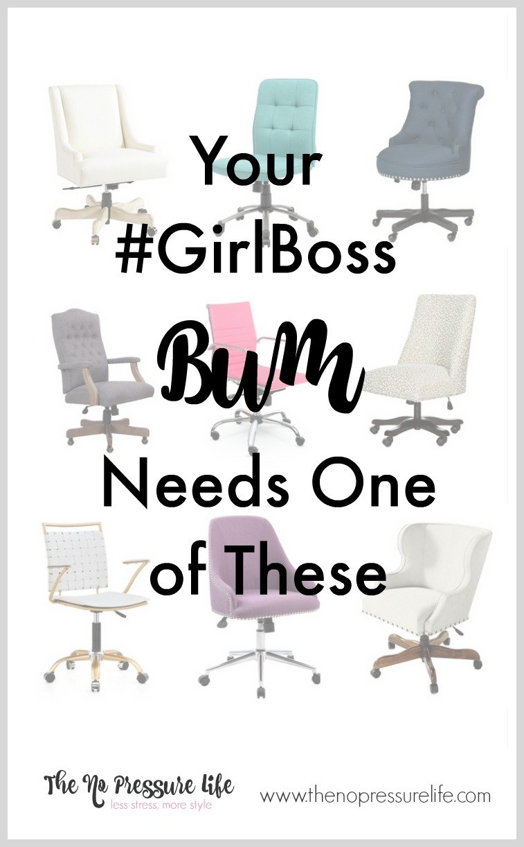 Find a feminine desk chair that's right for you and your home office. Don't settle for a boring desk chair! Get the shopping guide at www.thenopressurelife.com