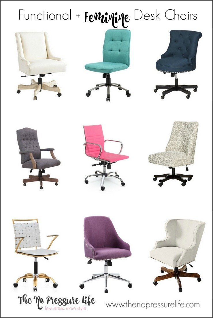Which feminine desk chair is worth of your GirlBoss bum? Check out this roundup of functional and feminine desk chairs. | feminine office chairs | home office chairs | home office design