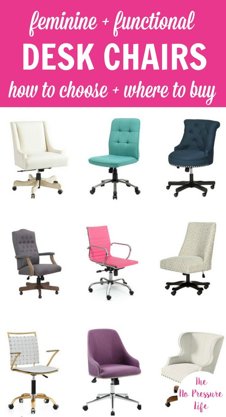 Feminine Desk Chairs In Different Colors