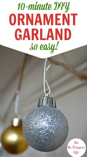 Learn how to make this easy DIY ornament garland in 10 minutes.