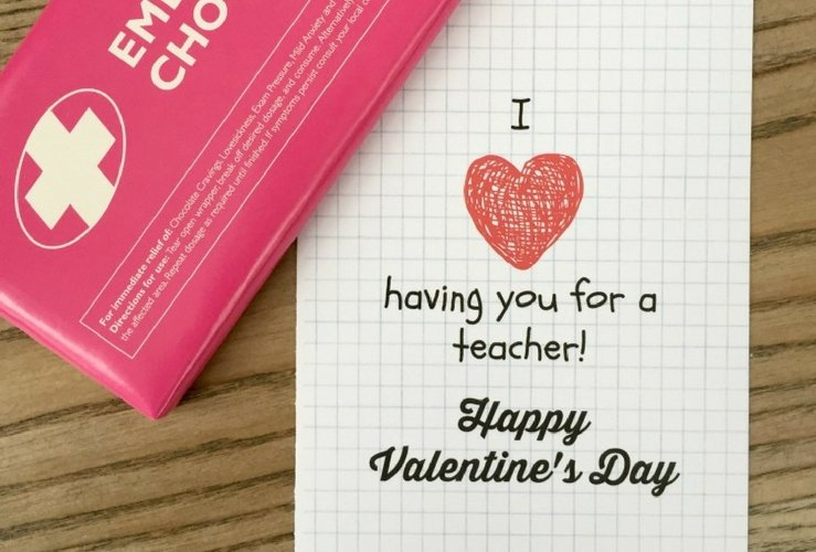 Teacher Valentines Day Card Free Printable