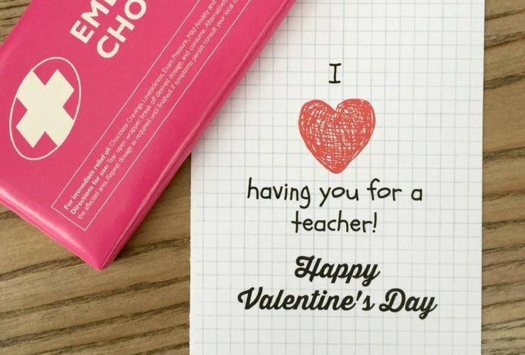 Teacher Valentine's Day Card – Free Printable