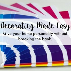 Easy decorating ideas, and home decor inspiration for beginners.