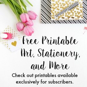 Check out all of this free printable art, stationery, and more!