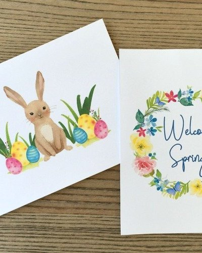 Get free spring printable art to decorate your home! Free watercolor prints for spring.
