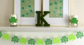 St. Patrick's Day Mantel: Glittery Green Crafts to Make in 30 Minutes or Less