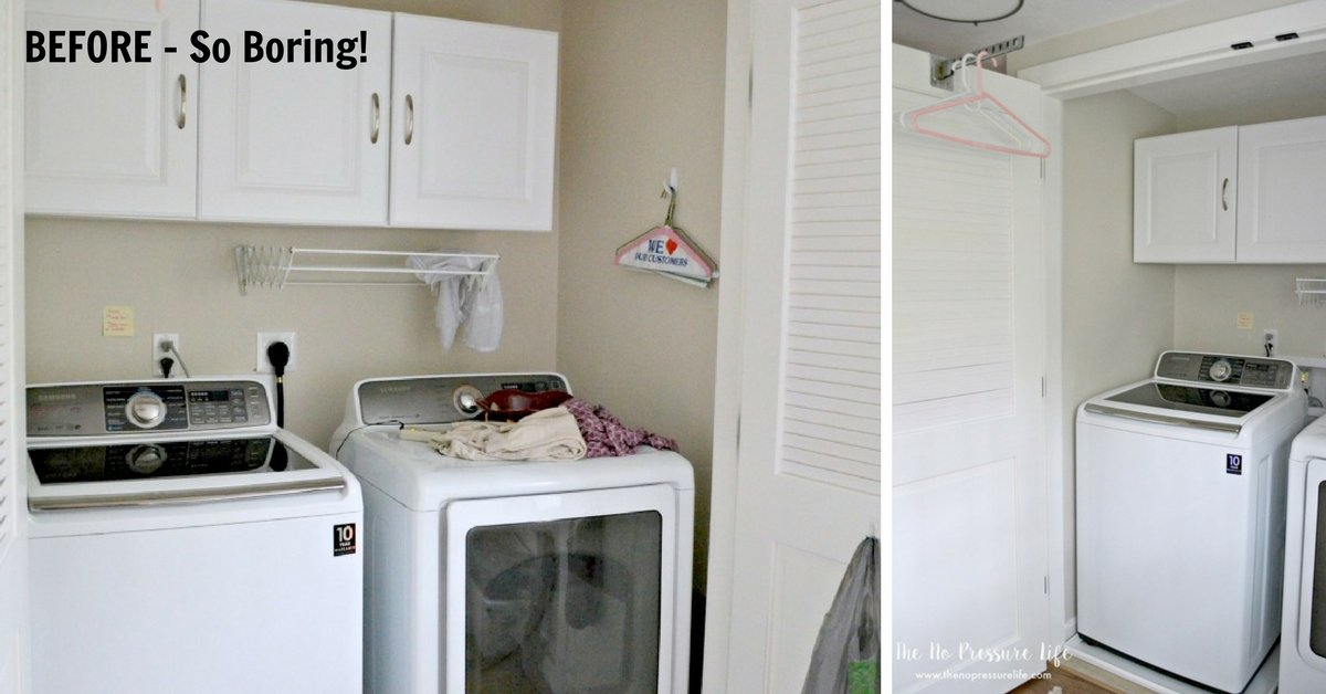 How I Made Over Our Laundry Closet For Free (In One Afternoon!)