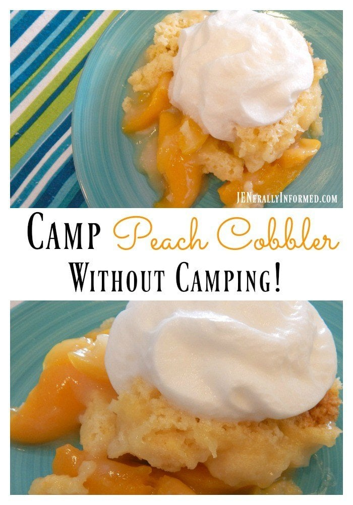 Easy peach cobbler recipe with a twist! via @queenmomjen