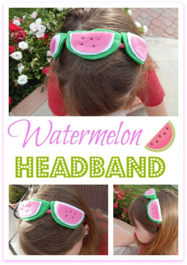 Learn how to make this adorable watermelon headband!