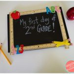 DIY Reusable Chalkboard Sign for School