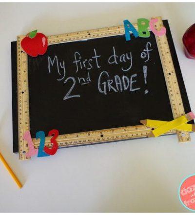 DIY Reusable Chalkboard Sign for School