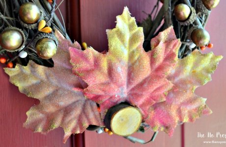 How to Make an Easy DIY Fall Wreath With Gold Touches