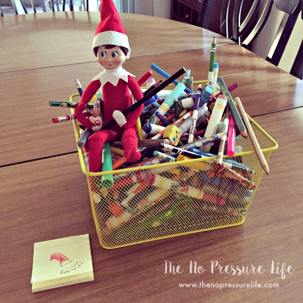 easy elf on the shelf ideas: coloring