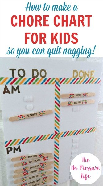 chore chart for kids - how to make a DIY chore chart to teach responsibility and reward good behavior