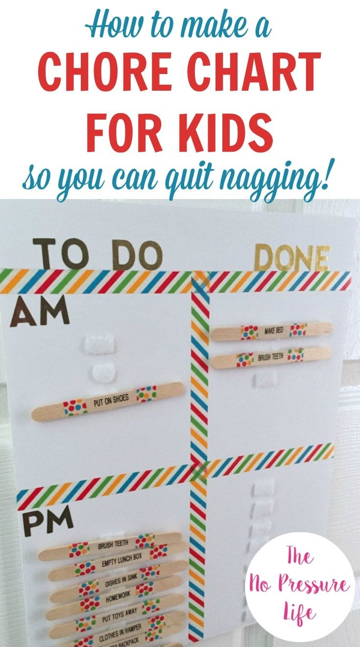 How to make a chore chart for kids so you can quit nagging learn how to make a diy chore chart for kids nvjuhfo Choice Image