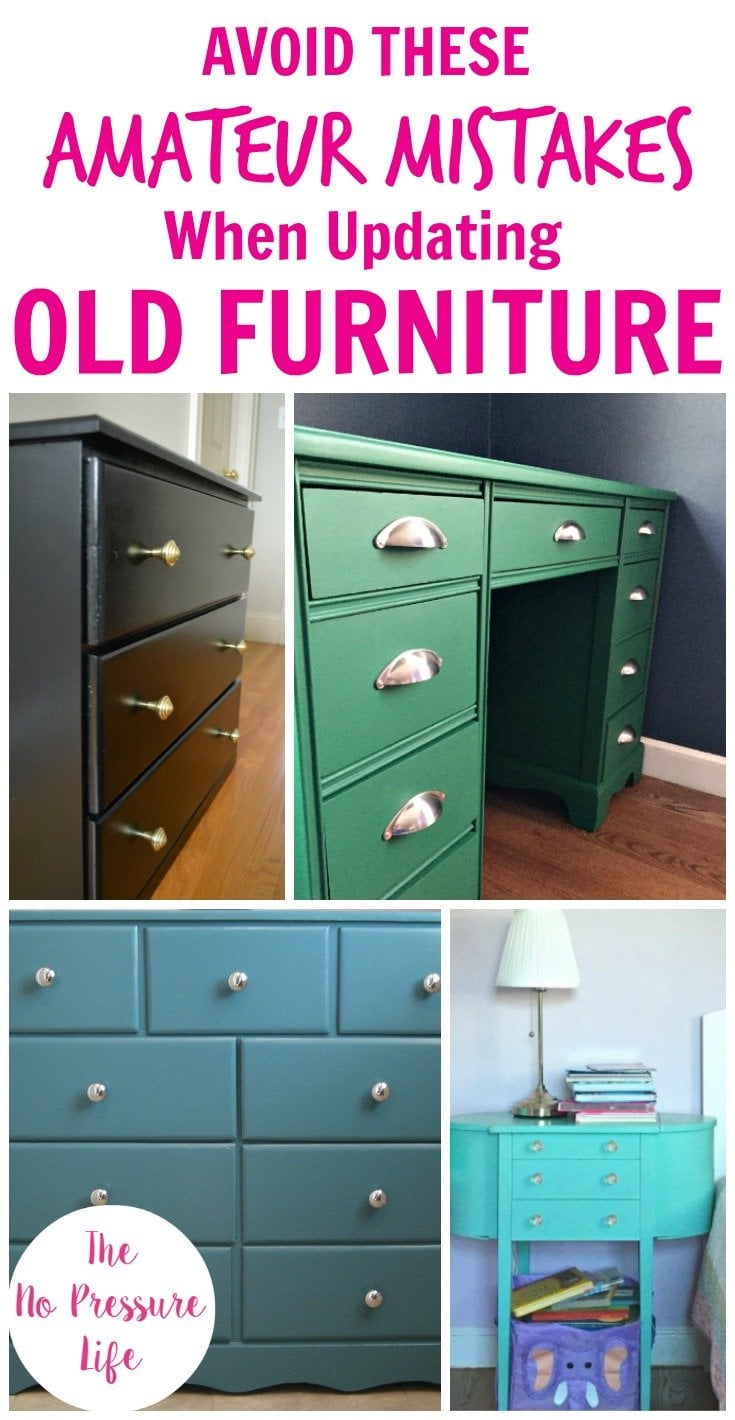 Beau Collage Featuring A Painted Green Desk, Black Dresser, Teal Dresser, And  Aqua Nightstand