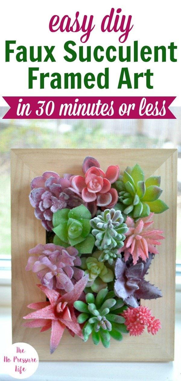 How to make DIY Fake Succulent Art
