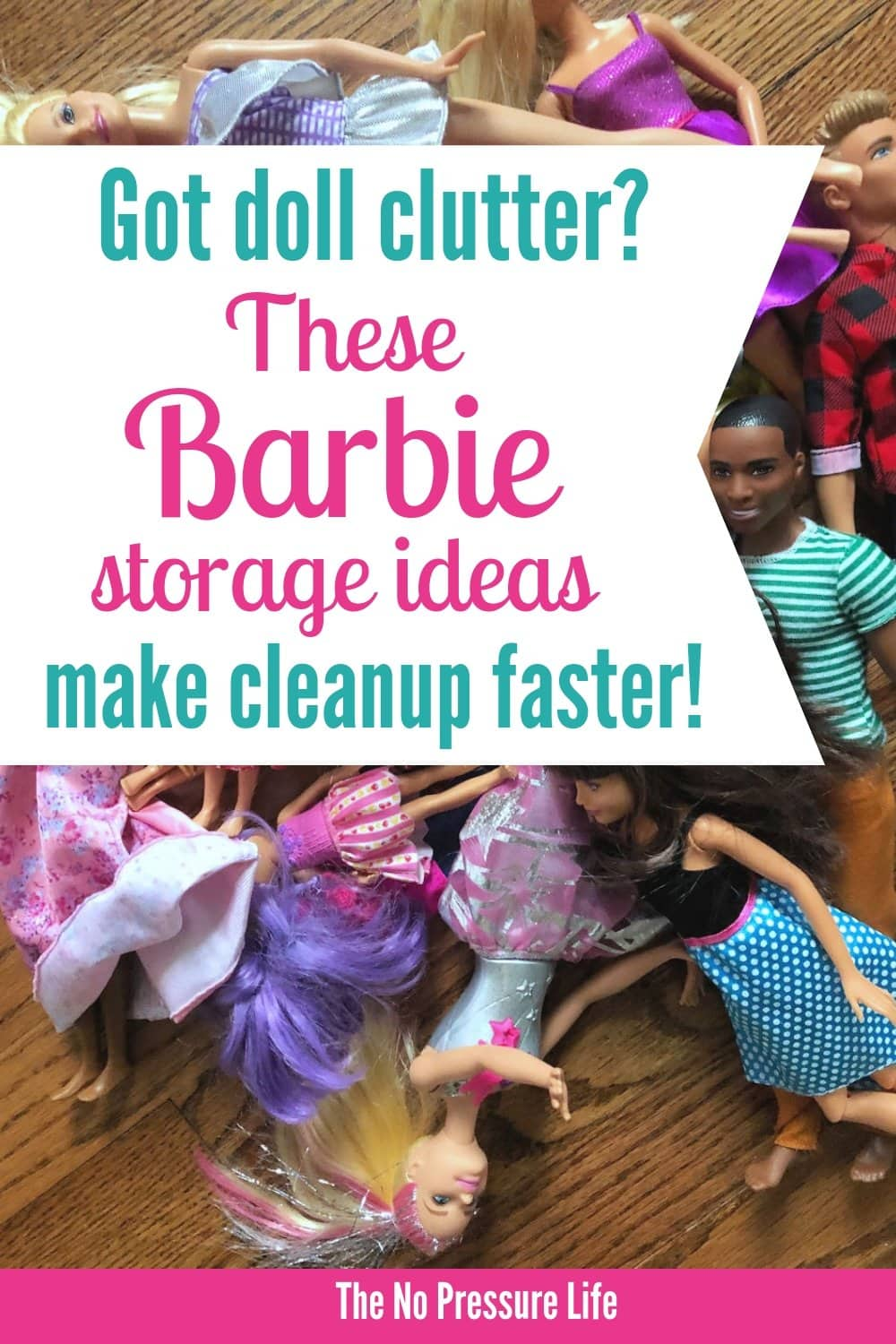 Barbie storage ideas to organize Barbie dolls, shoes, clothes, and accessories