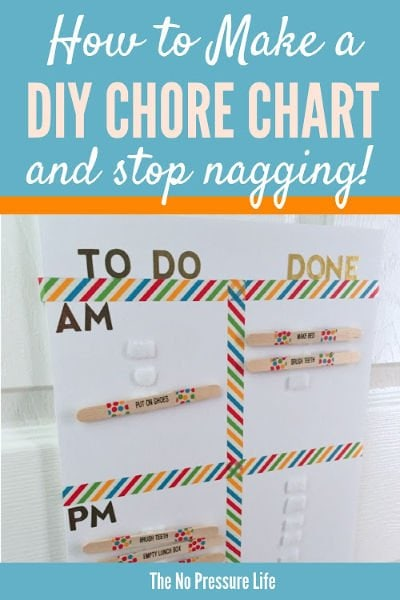 DIY chore chart for kids - how to make a chore chart