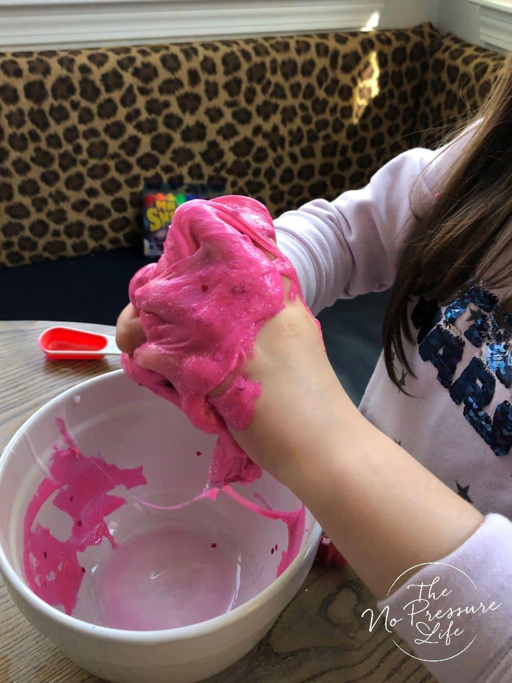making a big batch of pink slime