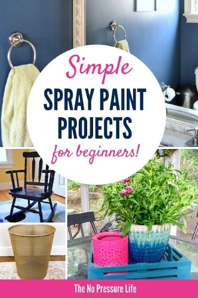 Easy DIY Spray Paint Ideas and Projects plus spray painting tips and techniques