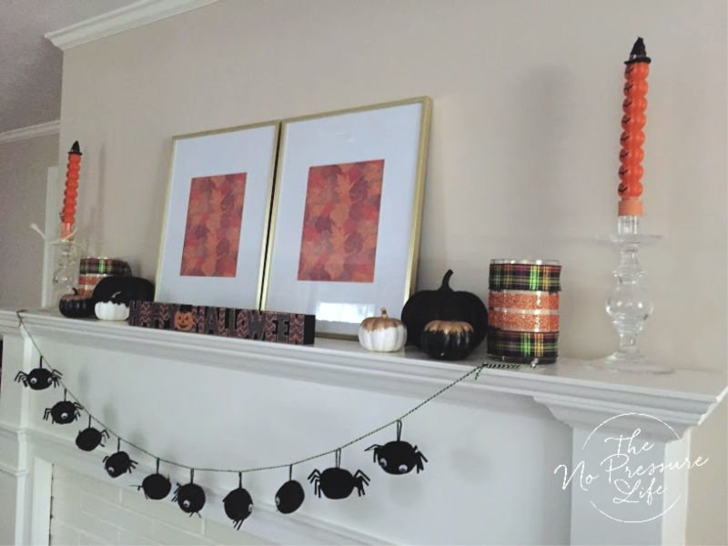 Easy Halloween Mantel Decorations