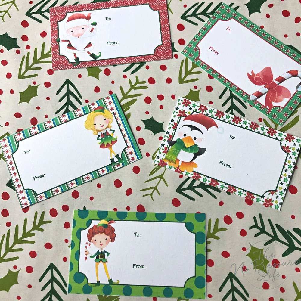 Elf on the Shelf printable pack - printable Christmas gift tags