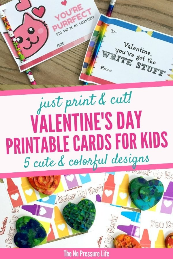 free printable Valentine's Day cards for kids